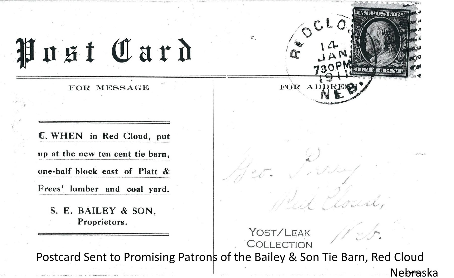 Bailey Tie Barn Postcard