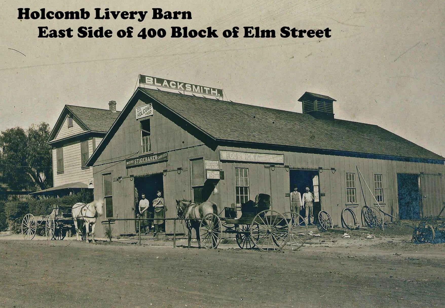 Holcomb Livery Barn - labeled