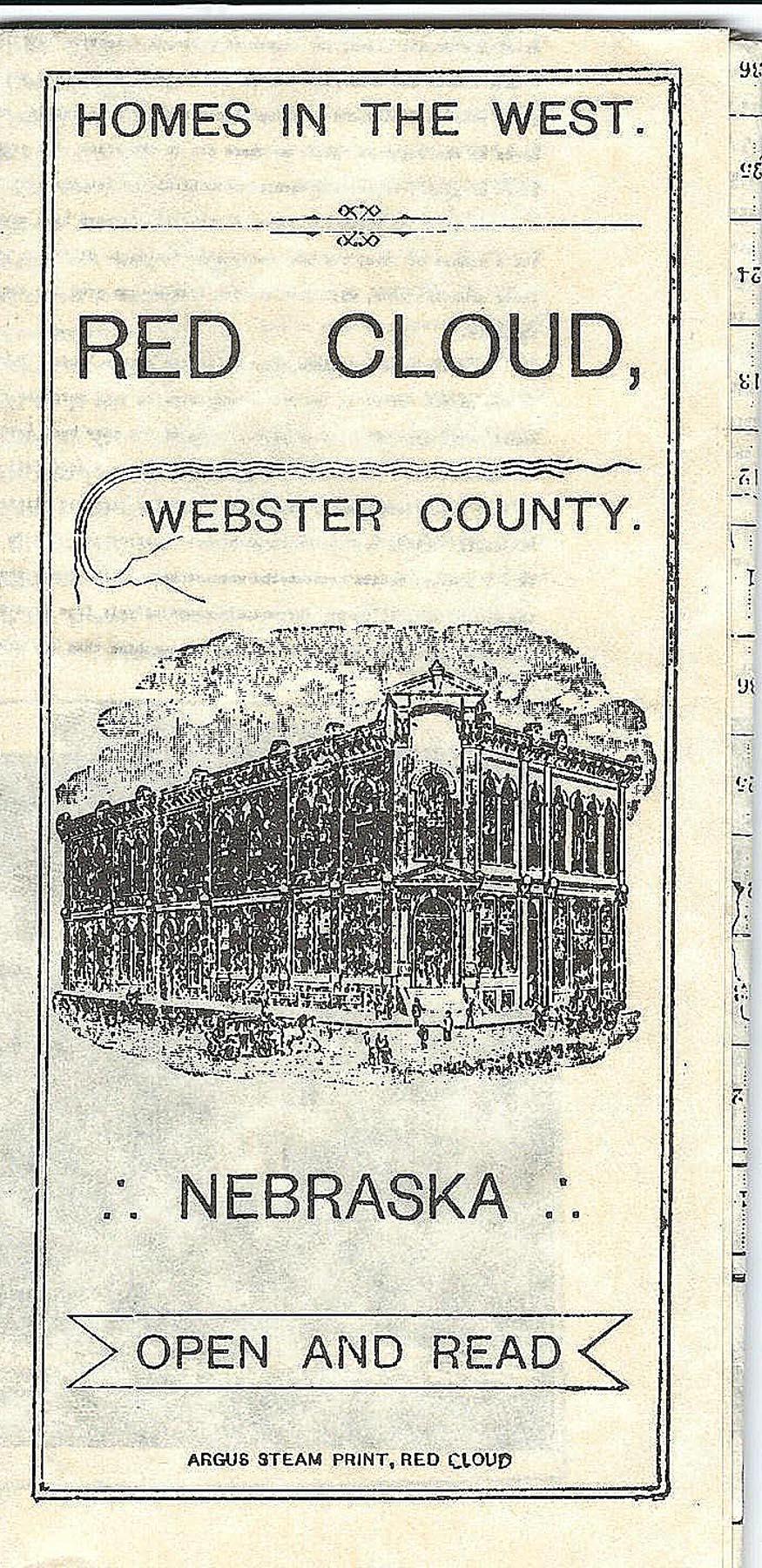 Settlement Brochure for Red Cloud