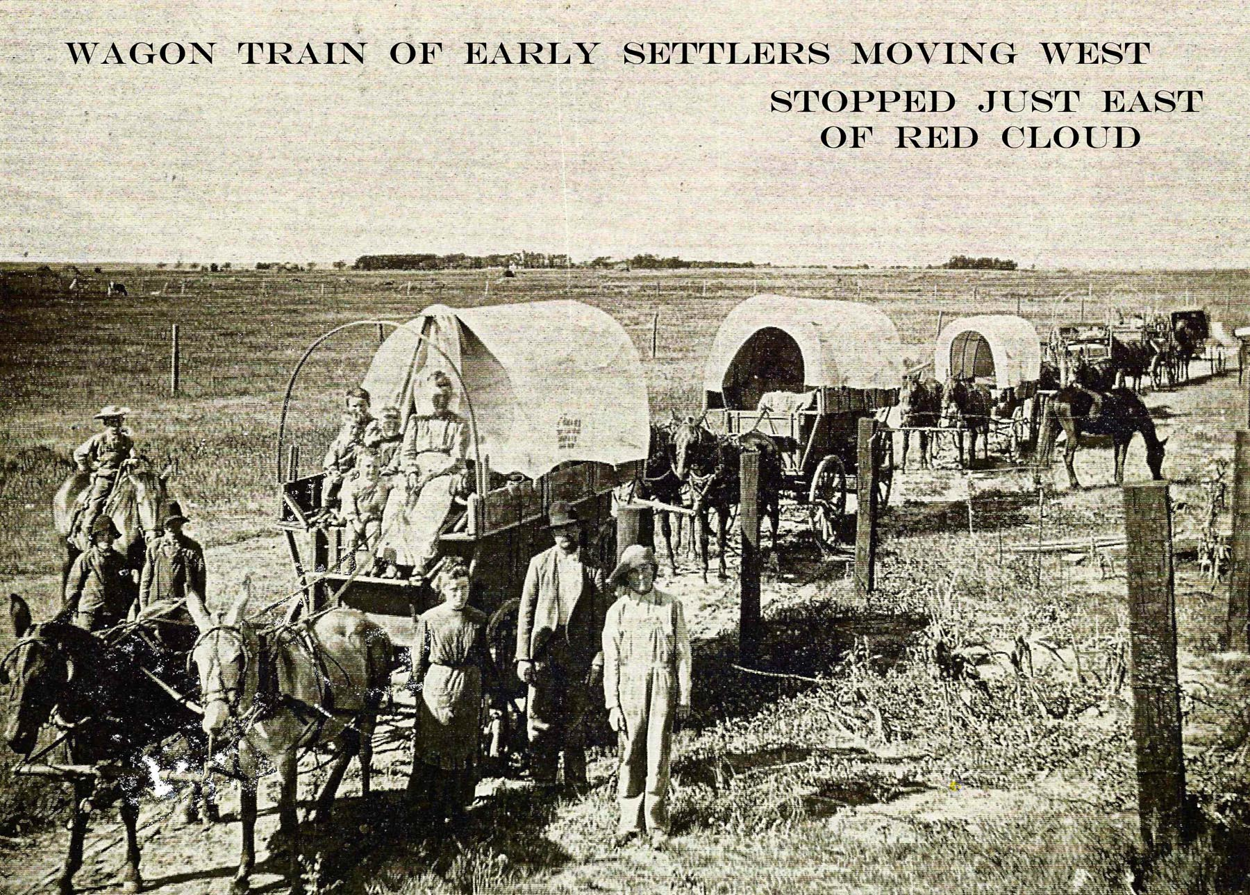 WAGON TRAIN OF EARLY SETTLERS