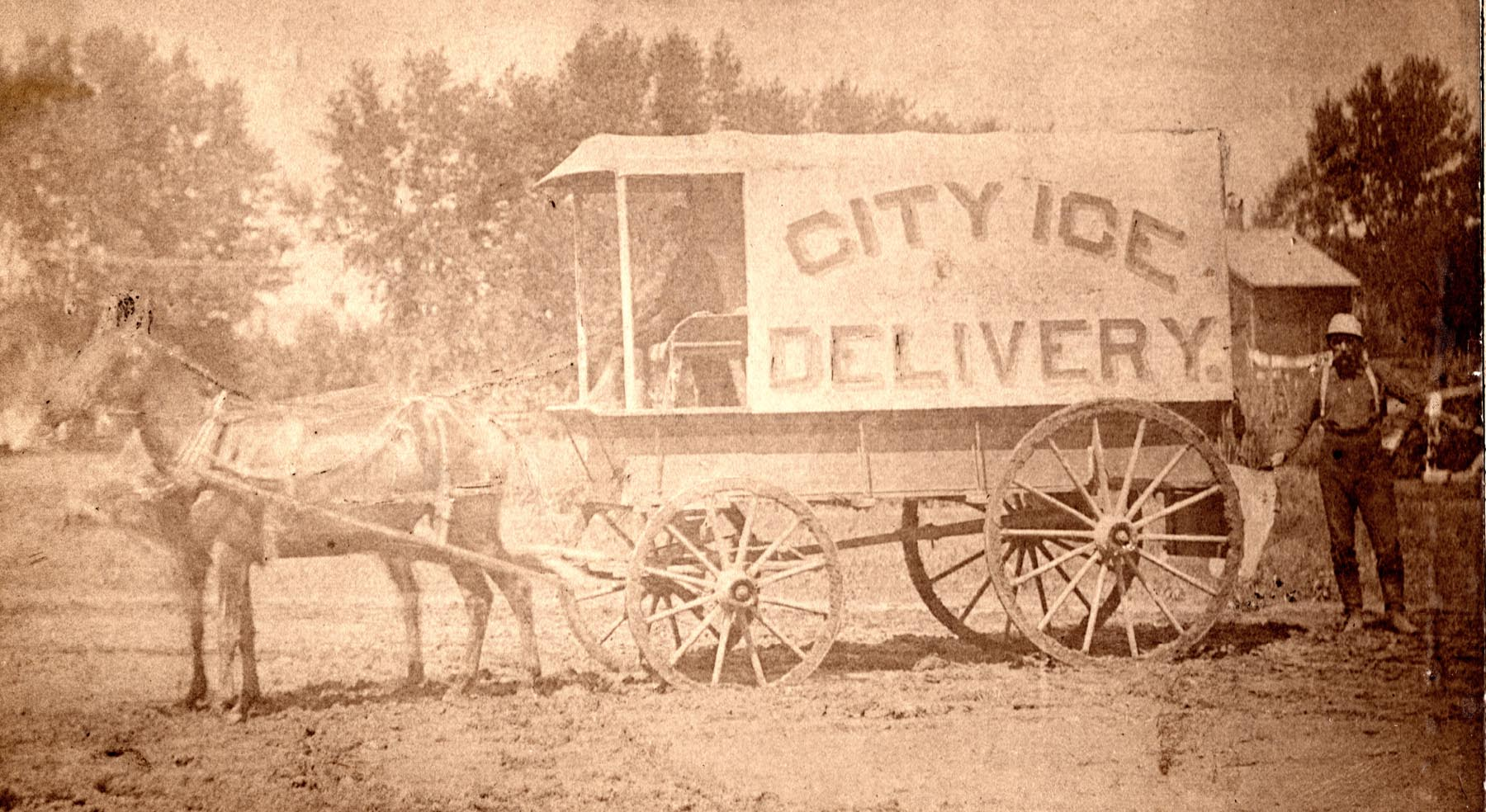 img097- CITY ICE DELIVERY, 1888, C. F. EVANS, PROPRIETOR