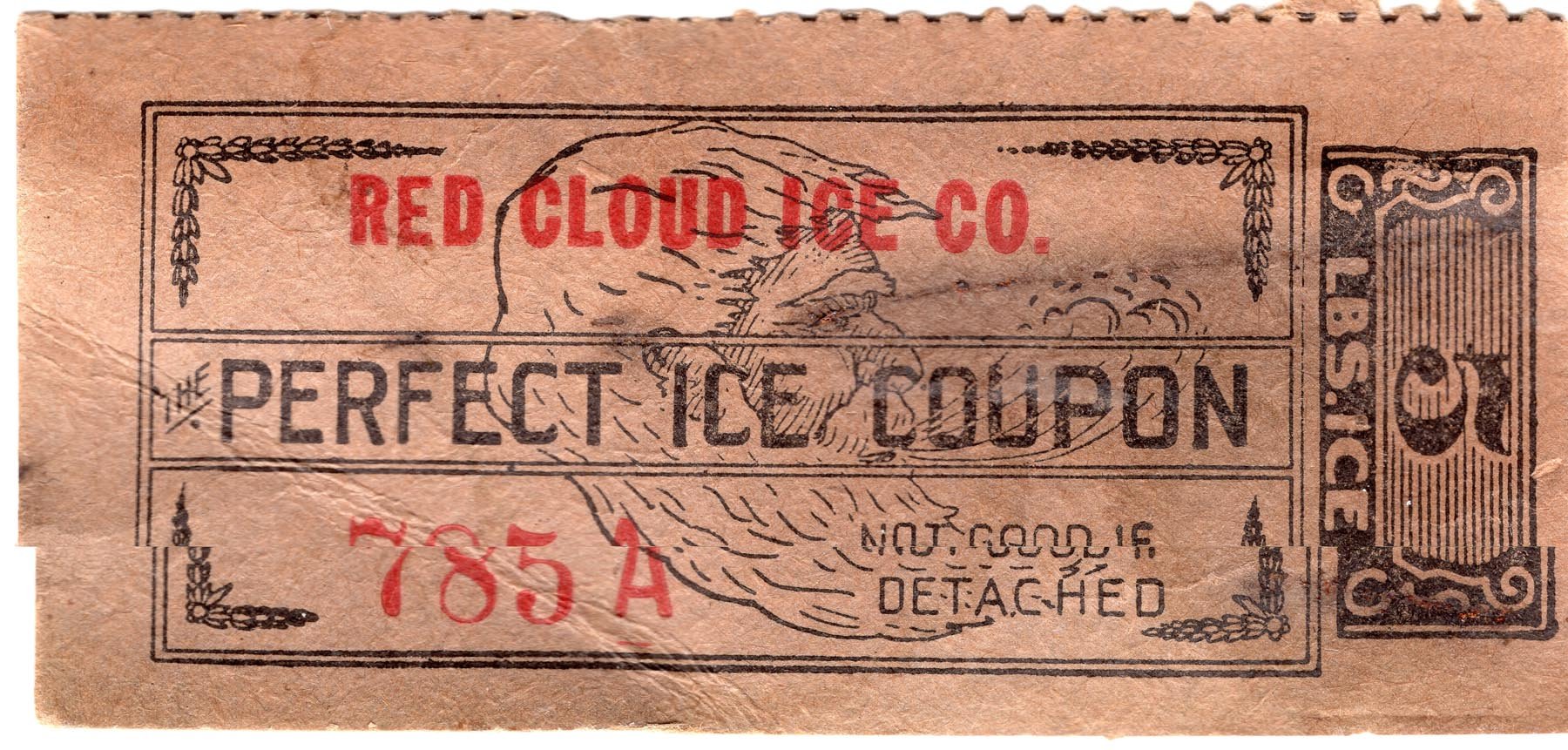 img217- Red Cloud Ice Co. Coupon for 5 lbs.